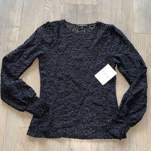 Stella & Dot Black Lace Shirt XS